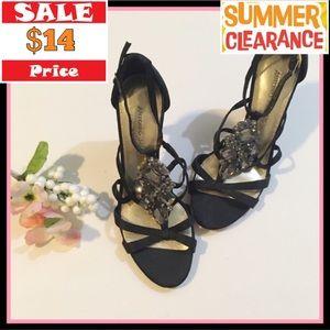 Antonio Melani Black Embellished Heels